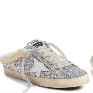 GOLDEN GOOSE Sabot Superstar Shearling Sneaker